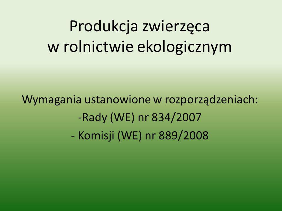 Produkcja zwierzęca w rolnictwie ekologicznym