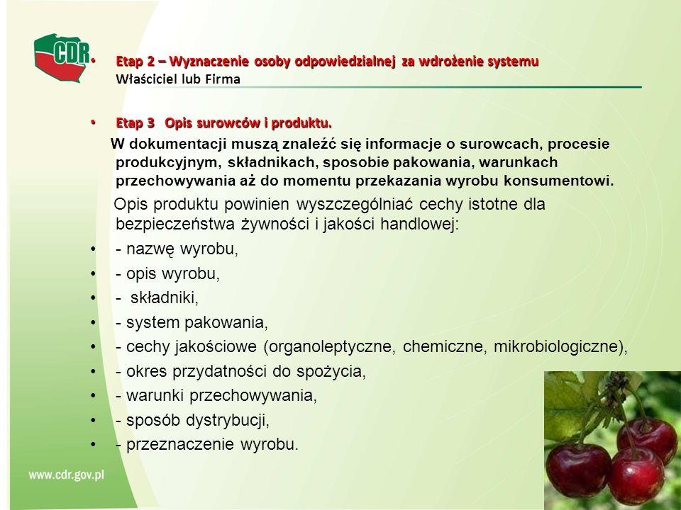 - cechy jakościowe (organoleptyczne, chemiczne, mikrobiologiczne),