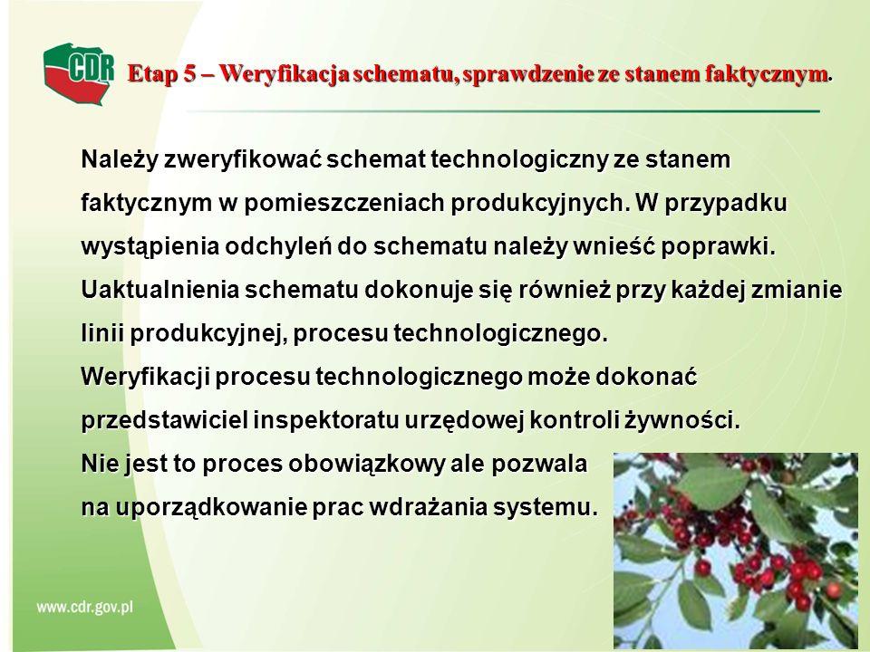 Etap 5 – Weryfikacja schematu, sprawdzenie ze stanem faktycznym.