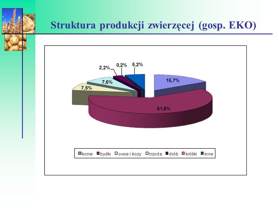 Struktura produkcji zwierzęcej (gosp. EKO)