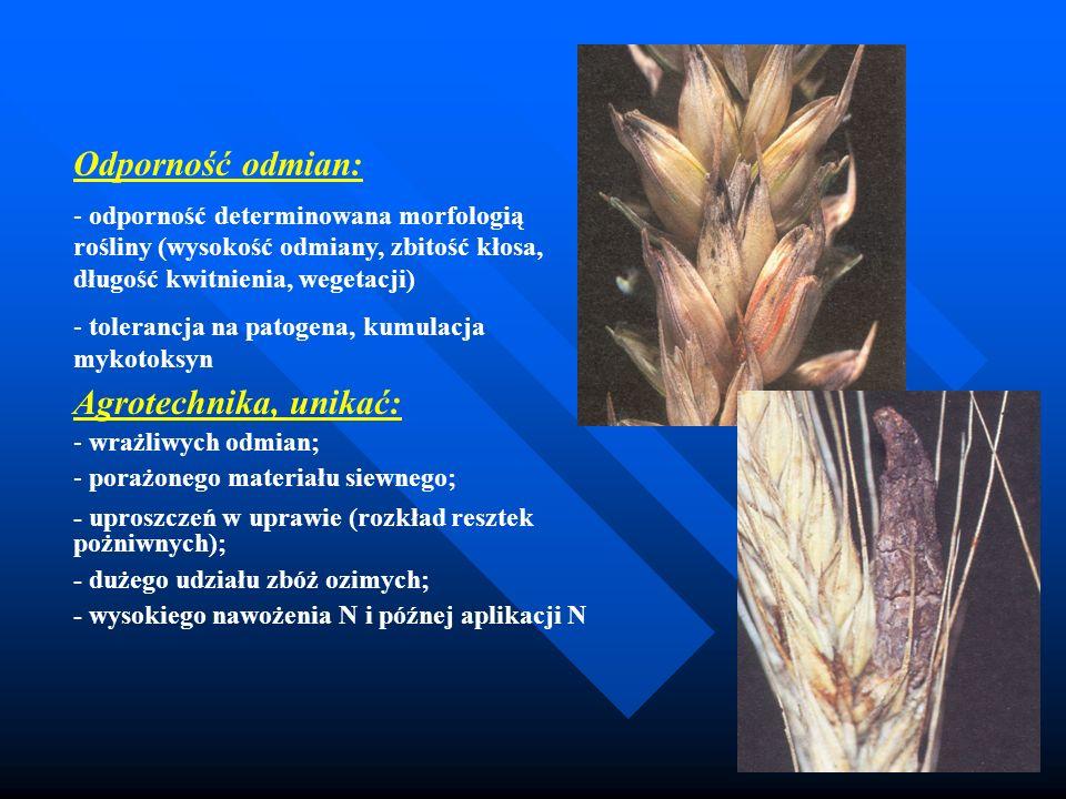 Odporność odmian: Agrotechnika, unikać: