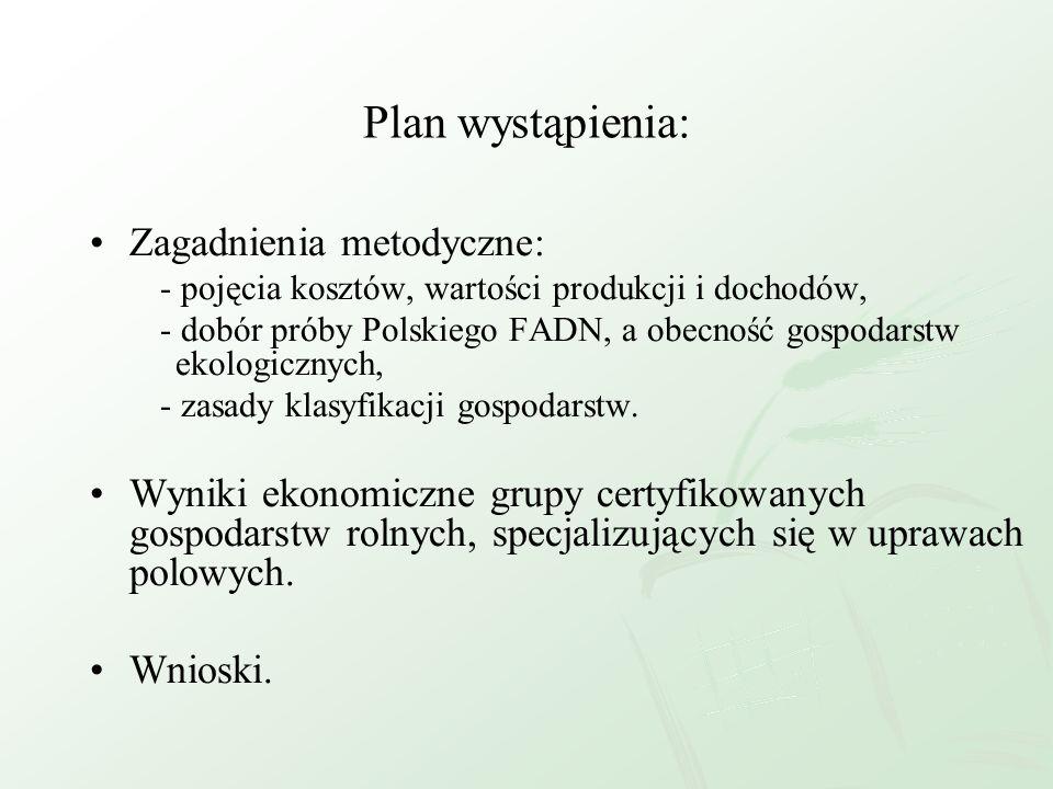 Plan wystąpienia: Zagadnienia metodyczne: