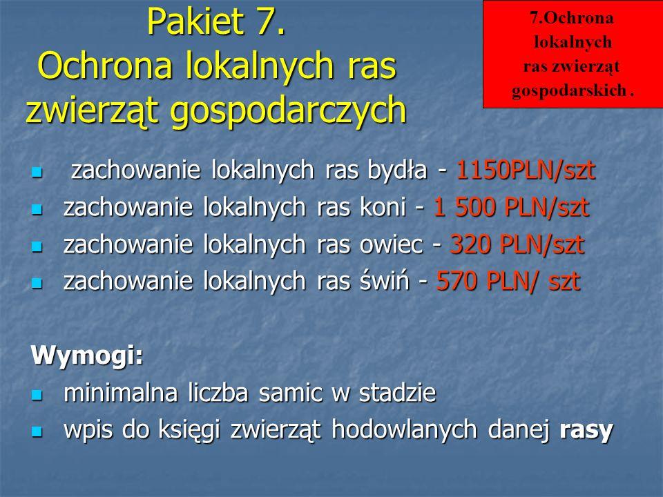 Pakiet 7. Ochrona lokalnych ras zwierząt gospodarczych