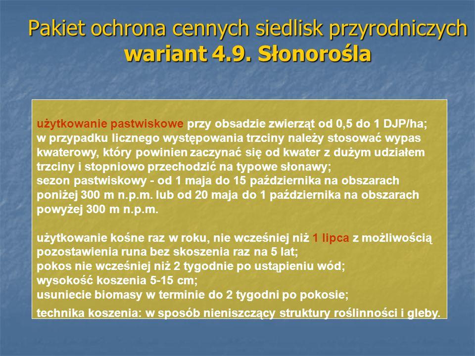 Pakiet ochrona cennych siedlisk przyrodniczych wariant 4.9. Słonorośla