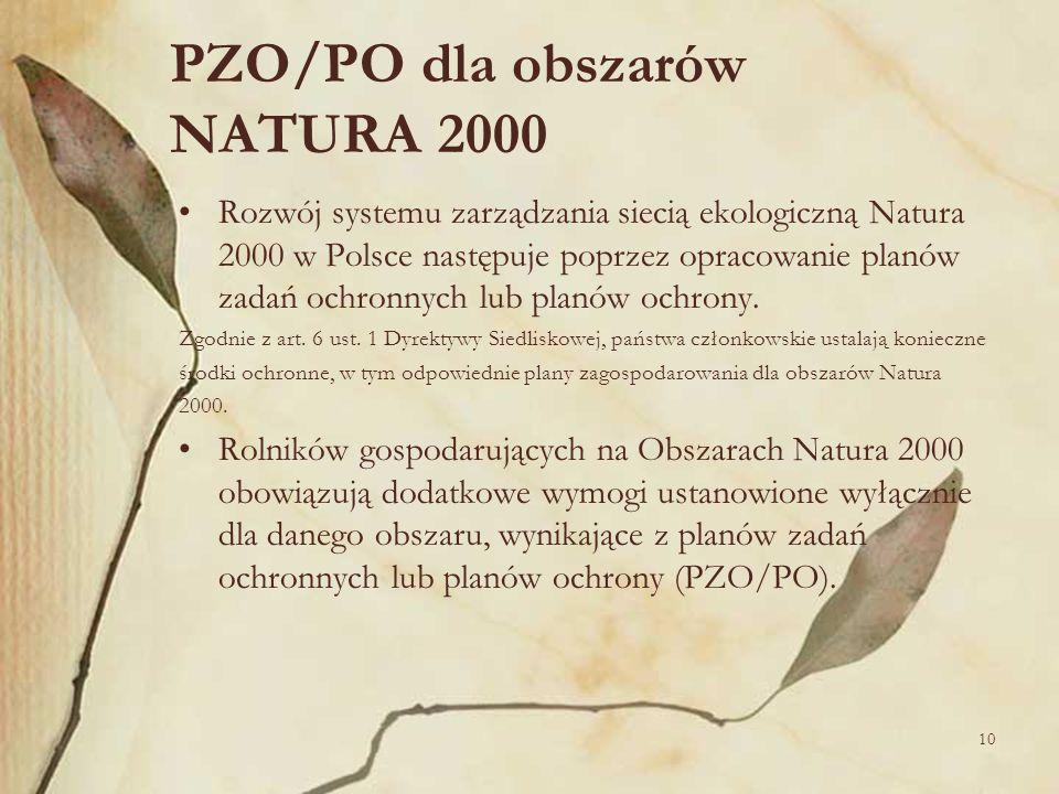 PZO/PO dla obszarów NATURA 2000