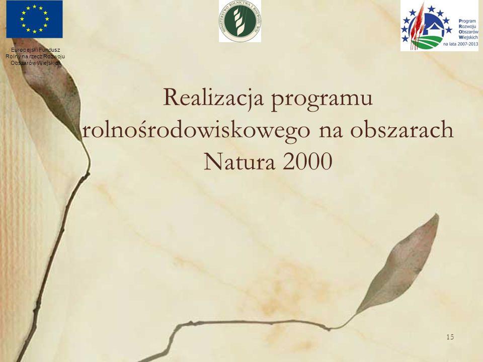 Realizacja programu rolnośrodowiskowego na obszarach Natura 2000
