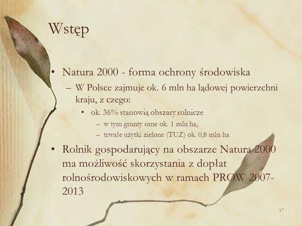 Wstęp Natura 2000 - forma ochrony środowiska