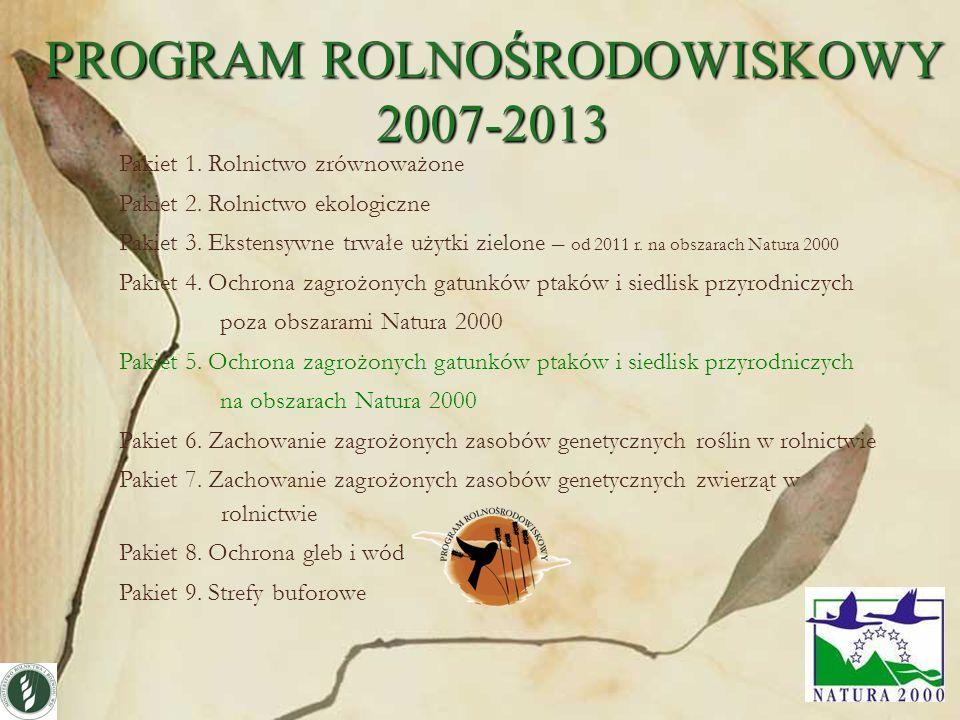 PROGRAM ROLNOŚRODOWISKOWY 2007-2013