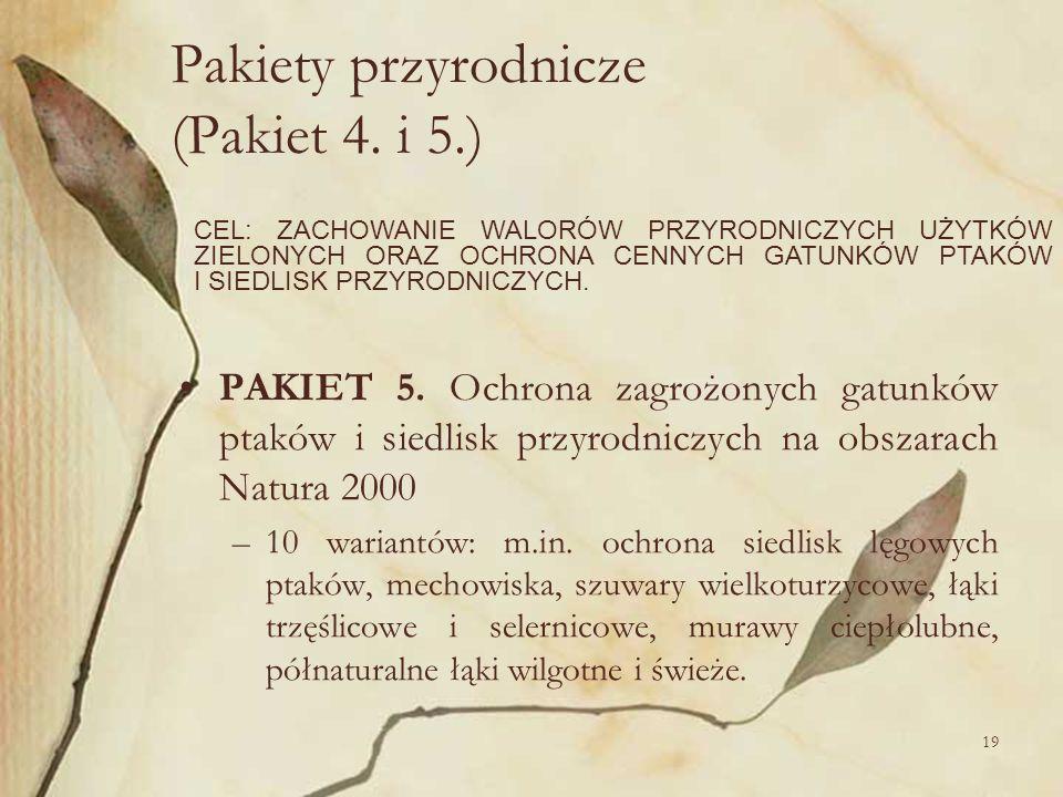 Pakiety przyrodnicze (Pakiet 4. i 5.)