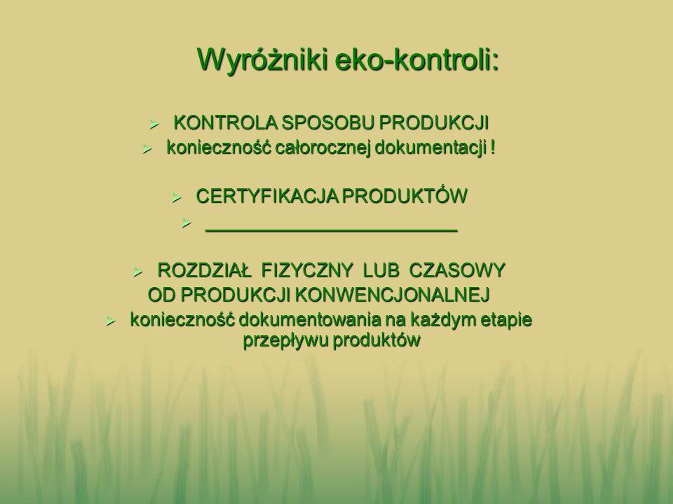 Wyróżniki eko-kontroli: