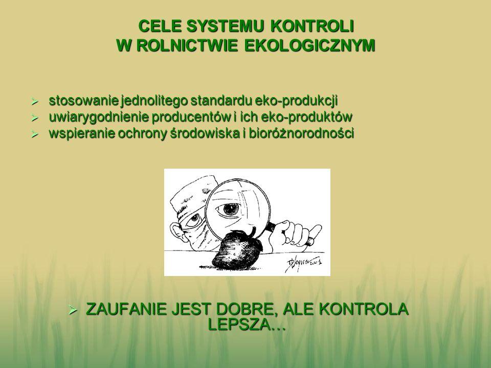 CELE SYSTEMU KONTROLI W ROLNICTWIE EKOLOGICZNYM