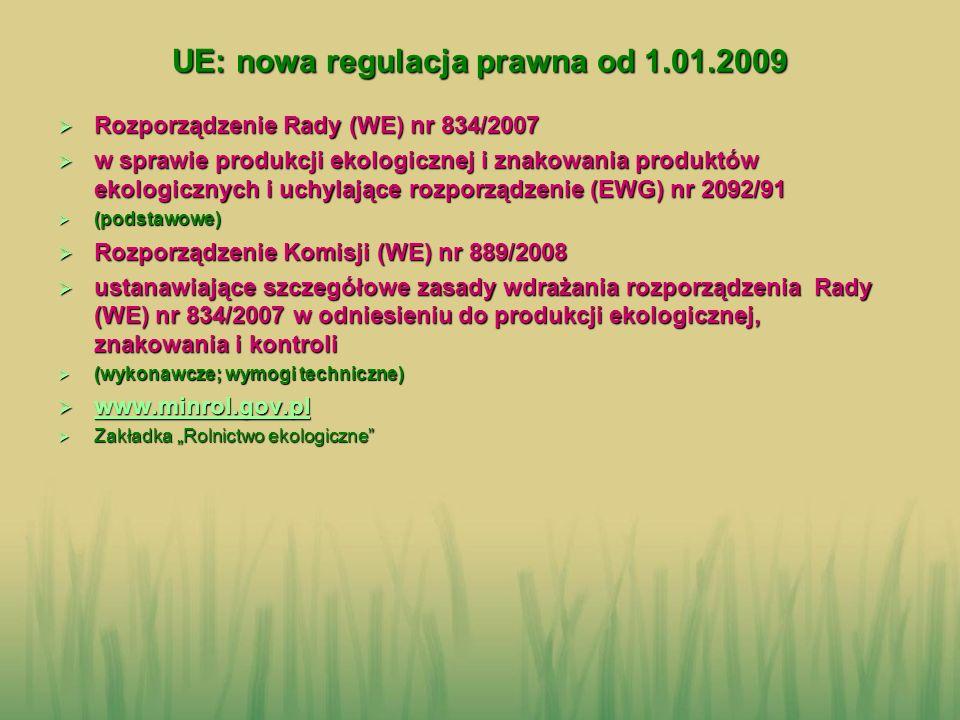 UE: nowa regulacja prawna od 1.01.2009