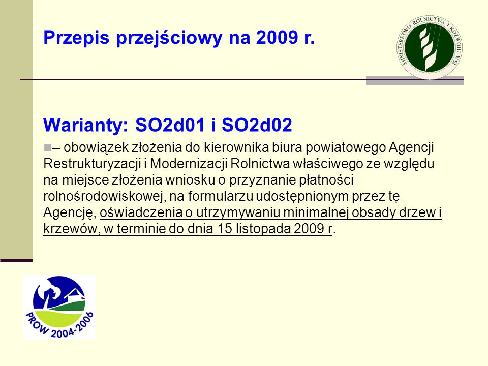 Przepis przejściowy na 2009 r.