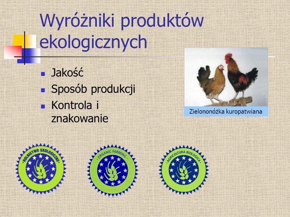 Wyróżniki produktów ekologicznych