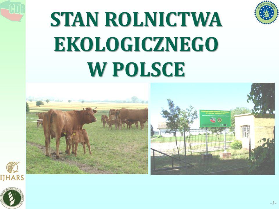 STAN ROLNICTWA EKOLOGICZNEGO