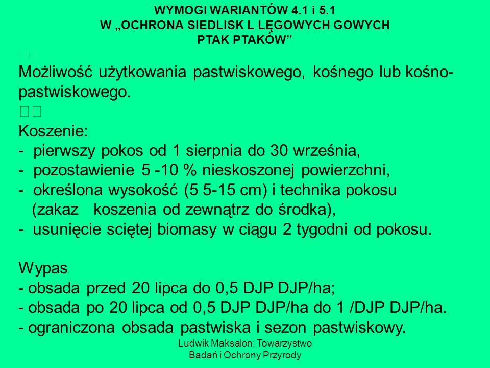 """W """"OCHRONA SIEDLISK L LĘGOWYCH GOWYCH"""