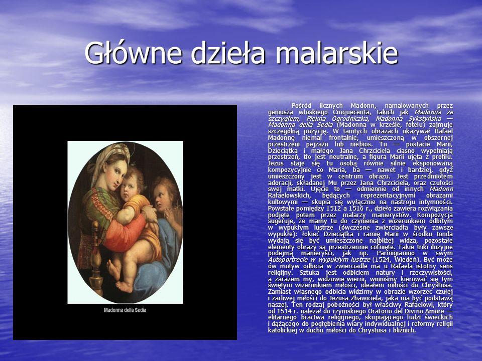 Główne dzieła malarskie