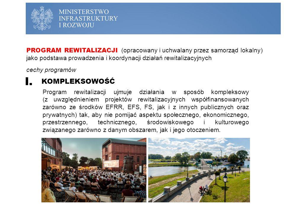 PROGRAM REWITALIZACJI (opracowany i uchwalany przez samorząd lokalny) jako podstawa prowadzenia i koordynacji działań rewitalizacyjnych