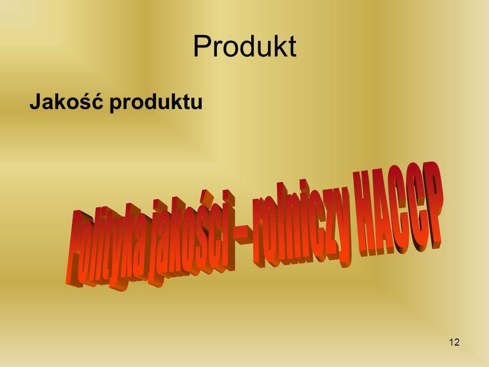 Polityka jakości – rolniczy HACCP