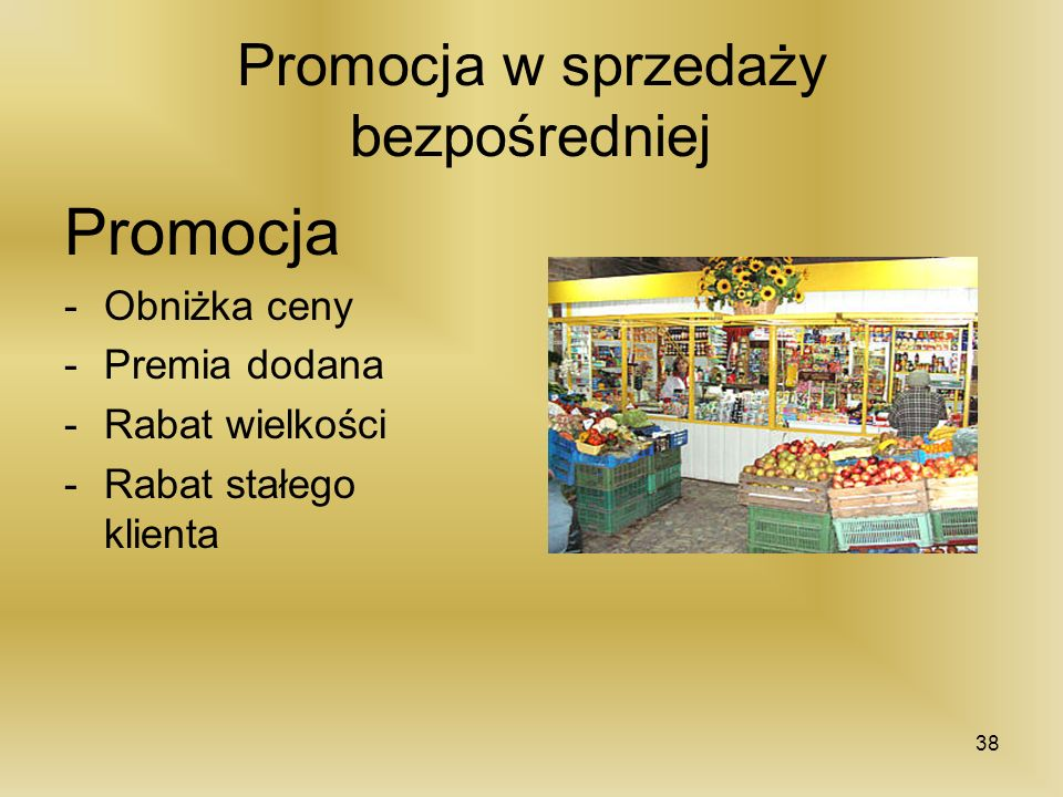 Promocja w sprzedaży bezpośredniej