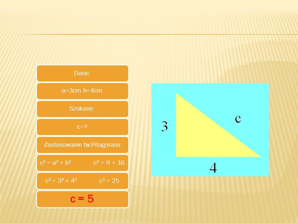 Zastosowanie tw.Pitagorasa