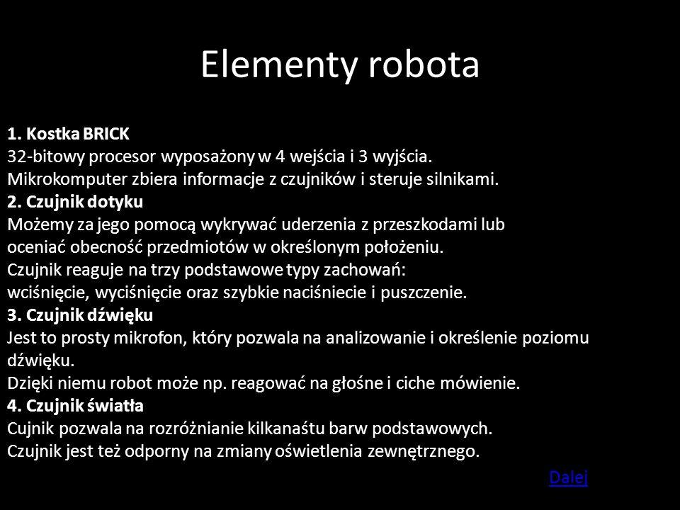 Elementy robota 1. Kostka BRICK