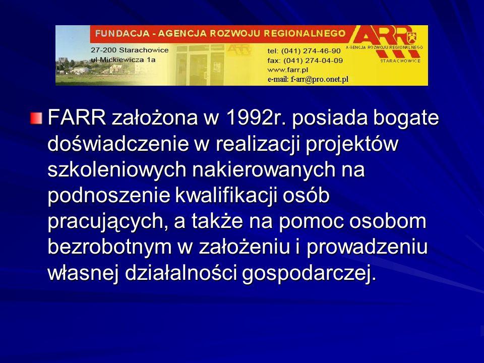 FARR założona w 1992r.