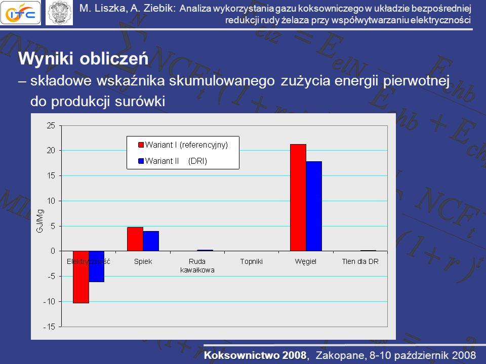 M. Liszka, A. Ziebik: Analiza wykorzystania gazu koksowniczego w układzie bezpośredniej redukcji rudy żelaza przy współwytwarzaniu elektryczności
