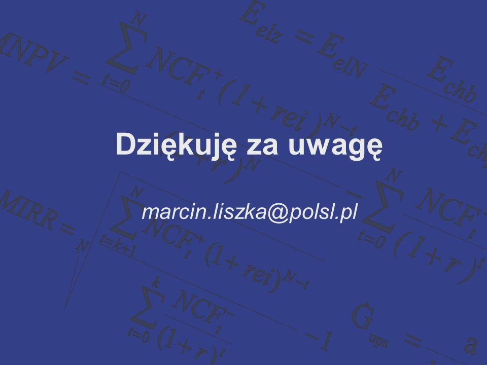 Dziękuję za uwagę marcin.liszka@polsl.pl