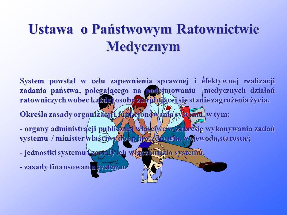 Ustawa o Państwowym Ratownictwie Medycznym