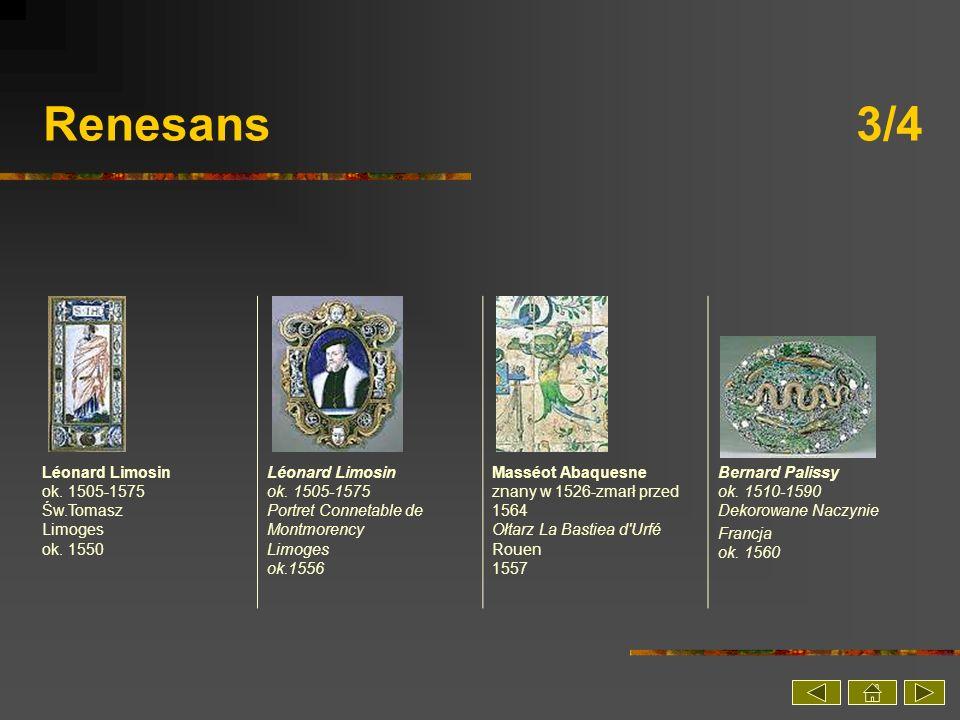 Renesans 3/4 Léonard Limosin ok. 1505-1575 Św.Tomasz Limoges ok. 1550