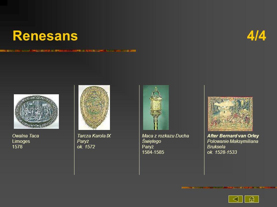 Renesans 4/4 Owalna Taca Limoges 1578 Tarcza Karola IX Paryż ok. 1572