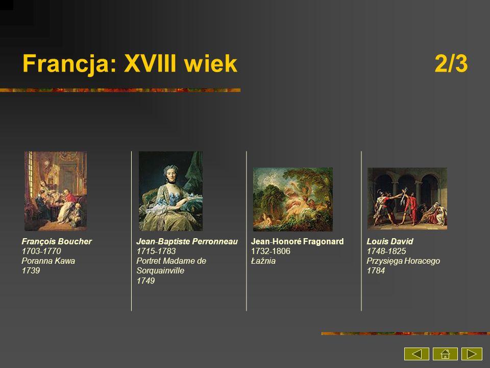 Francja: XVIII wiek 2/3 François Boucher 1703-1770 Poranna Kawa 1739