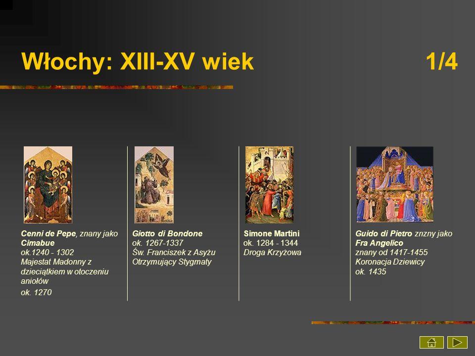 Włochy: XIII-XV wiek 1/4