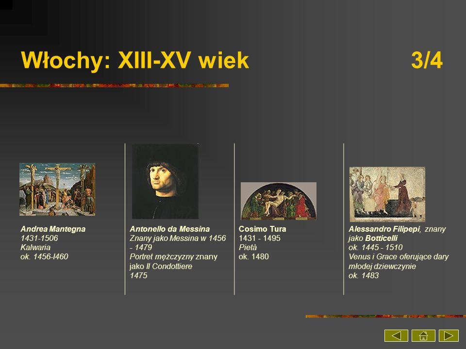 Włochy: XIII-XV wiek 3/4 Andrea Mantegna 1431-1506 Kalwaria ok. 1456-I460.