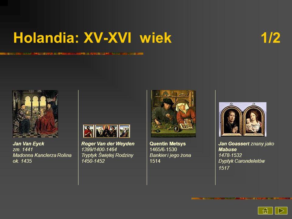 Holandia: XV-XVI wiek 1/2