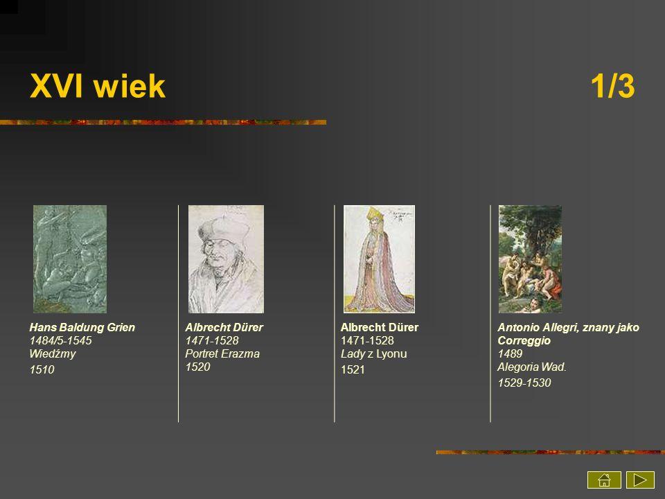 XVI wiek 1/3 Hans Baldung Grien 1484/5-1545 Wiedźmy 1510
