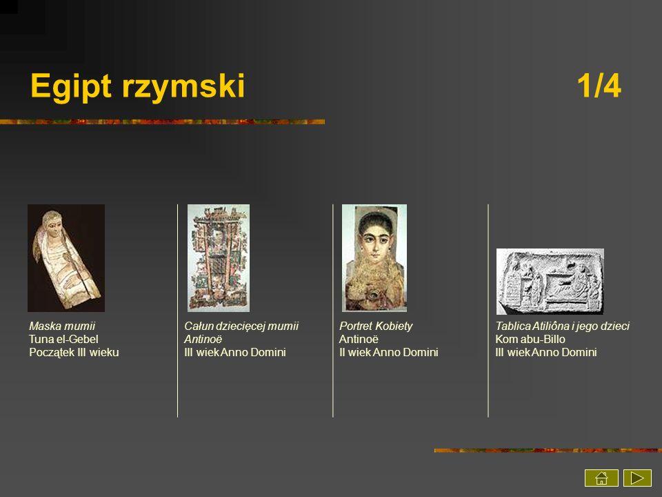 Egipt rzymski 1/4 Maska mumii Tuna el-Gebel Początek III wieku