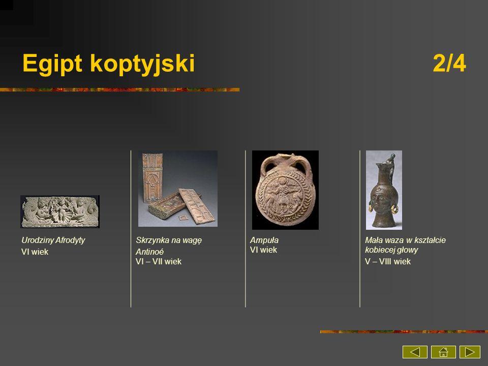 Egipt koptyjski 2/4 Urodziny Afrodyty VI wiek Skrzynka na wagę