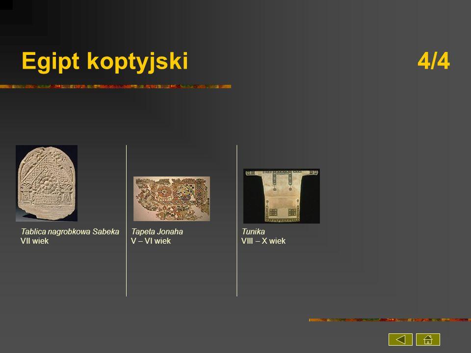 Egipt koptyjski 4/4 Tablica nagrobkowa Sabeka VII wiek