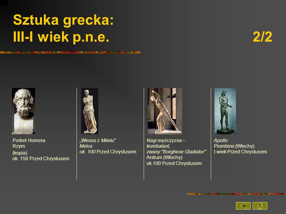 Sztuka grecka: III-I wiek p.n.e. 2/2