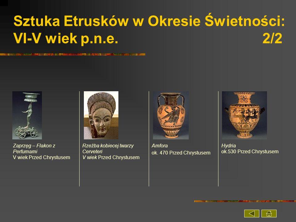 Sztuka Etrusków w Okresie Świetności: VI-V wiek p.n.e. 2/2