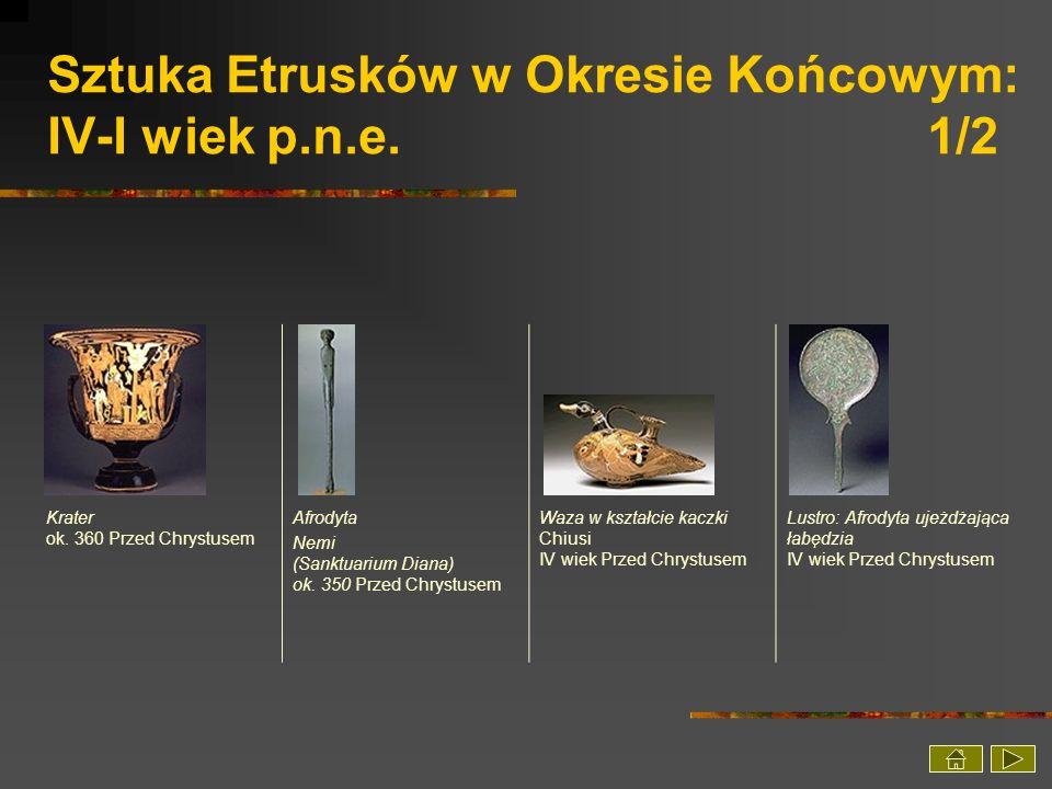 Sztuka Etrusków w Okresie Końcowym: IV-I wiek p.n.e. 1/2