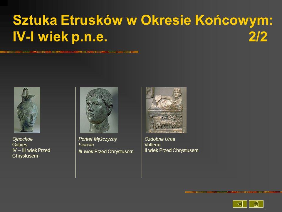 Sztuka Etrusków w Okresie Końcowym: IV-I wiek p.n.e. 2/2