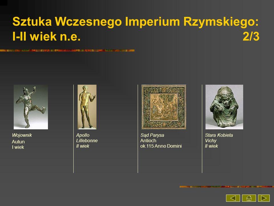 Sztuka Wczesnego Imperium Rzymskiego: I-II wiek n.e. 2/3