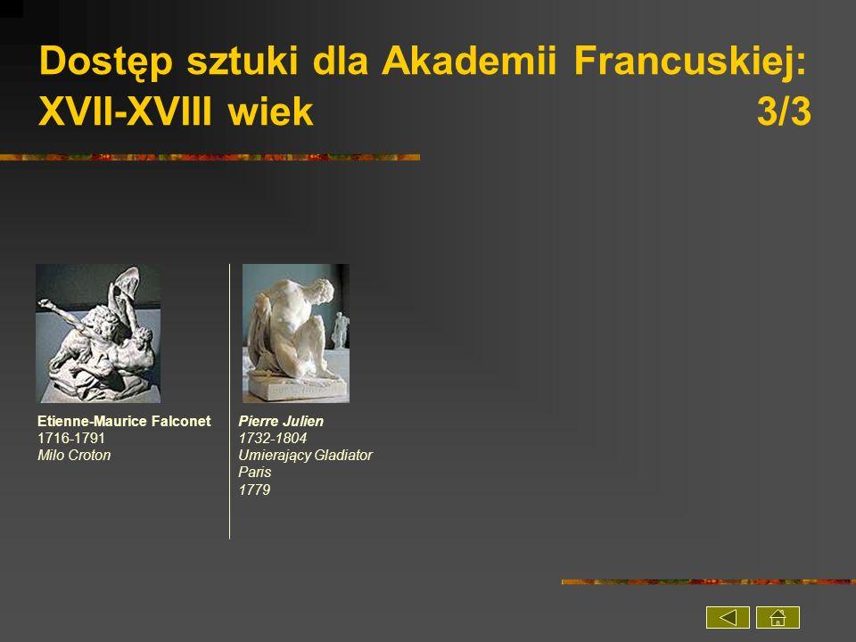 Dostęp sztuki dla Akademii Francuskiej: XVII-XVIII wiek 3/3