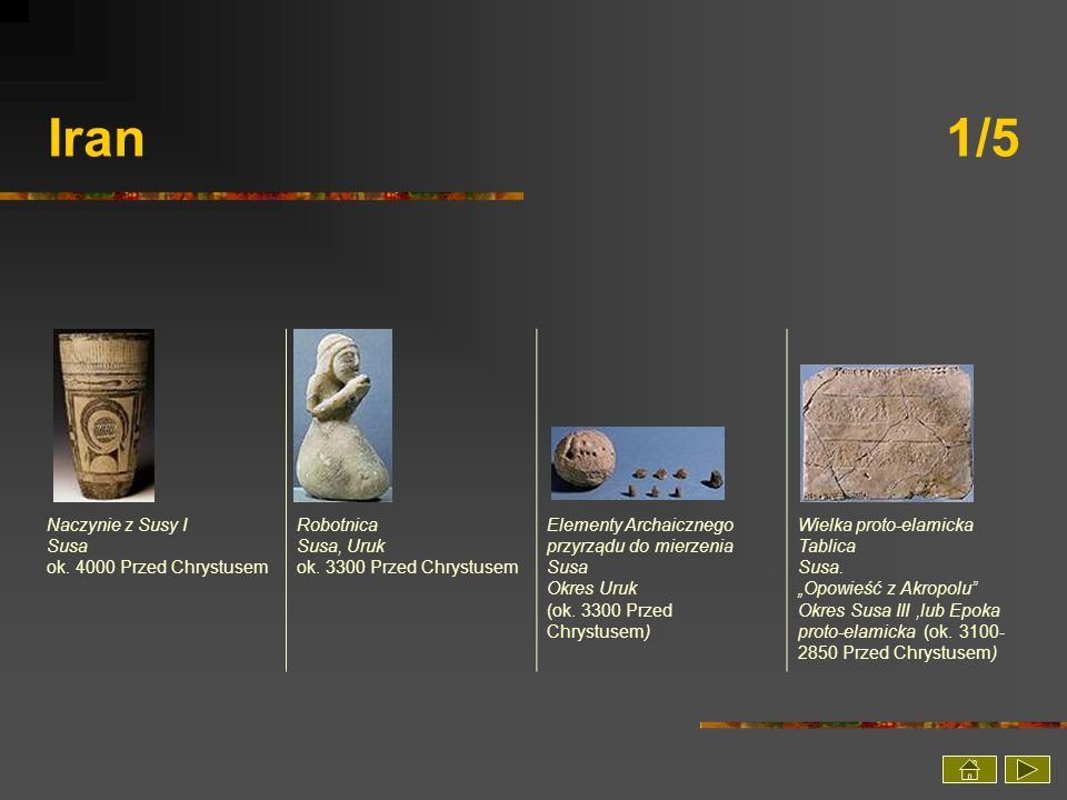 Iran 1/5 Naczynie z Susy I Susa ok. 4000 Przed Chrystusem