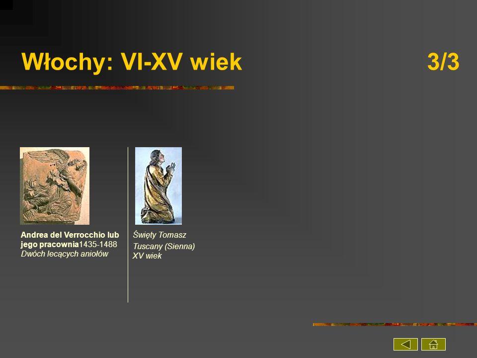 Włochy: VI-XV wiek 3/3 Andrea del Verrocchio lub jego pracownia1435-1488 Dwóch lecących aniołów.