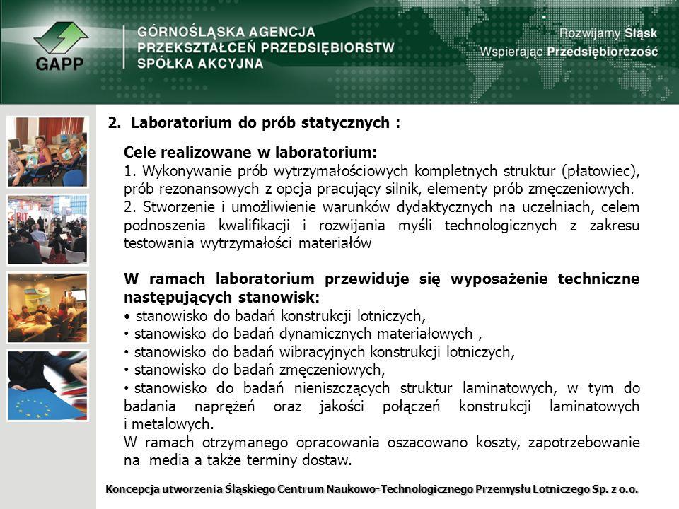 2. Laboratorium do prób statycznych :