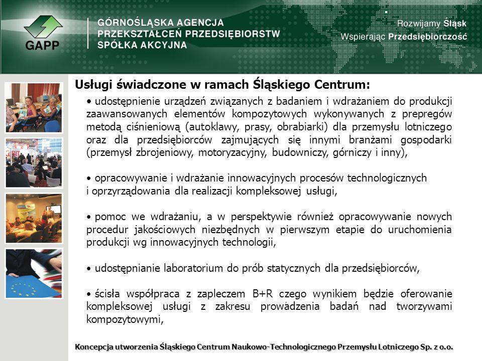 Usługi świadczone w ramach Śląskiego Centrum: